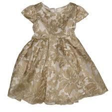 biscotti royal princess gold lace baby dress