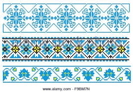 vector illustrations of ukrainian embroidery ornaments patterns