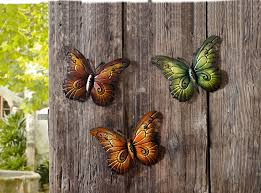 amazon com metal butterfly wall decor colored metal