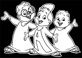alvin and chipmunks black background coloring page wecoloringpage