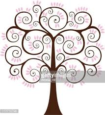 swirly tree with flowers premium clipart clipartlogo