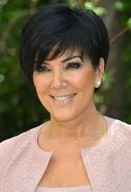 2013 short hairstyles for women over 50 kris jenner short black haircut with side swept bangs short