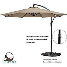 How To Fix Patio Umbrella Amazon Com Cobana 10 Feet Octagon Cantilever Patio Umbrella With