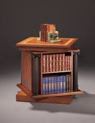 Revolving Bookcase Ikea 41 Rotating Bookcase End Table Burl Yew And Mahogany Veneer