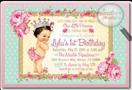 vintage princess baby 1st birthday invitations di 693 ministry