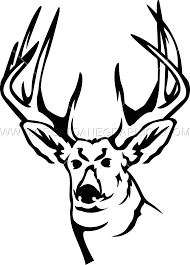deer head production ready artwork for t shirt printing