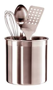 kitchen utensil canister oggi 7211 jumbo stainless steel utensil holder