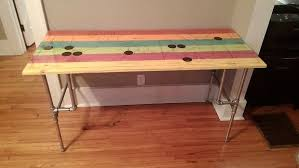 stained wood top with pipe dream legs desk 8 steps with pictures