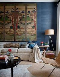 eclectic decorating with large chinese art and animal print small