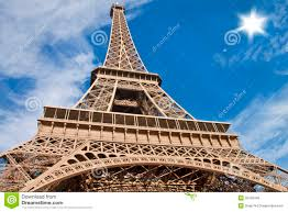 beautiful scene in eiffel tower paris royalty free stock images