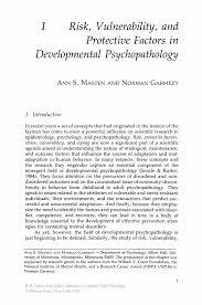 risk vulnerability and protective factors in developmental