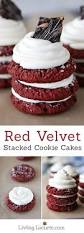 red velvet stacked cookie cakes recipe cream cheeses cookie