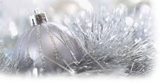 wonderfully tree decoration with silver and blue glitter