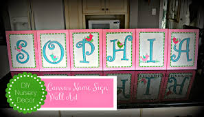 Nursery Name Wall Decals by Serendipity Refined Blog Diy Canvas Name Sign Nursery Wall Art