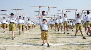 RSS functionaries go to work in Uttar Pradesh   Daily Mail Online Children participate during a Rashtriya Swayamsevak Sangh  RSS  organisational meeting in Kanpur  Uttar