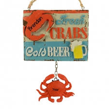 crab lobster ornaments personalized ornaments for you