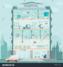 Medical Clinic Floor Plan Hospital Building Doctor Patient Medical Check Stock Vector