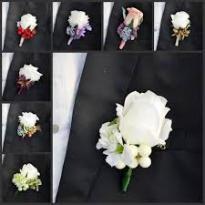 Groom S Boutonniere 2015 Beautiful Wedding Bouquets Real Touch Rose Flower Corsages