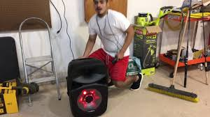 blackweb lighted bluetooth speaker review blackweb party speaker unboxing review youtube