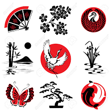 Japanese Style | vector design elements in the japanese style royalty free cliparts