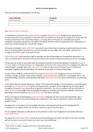 free non disclosure agreement template uk session musician contract template
