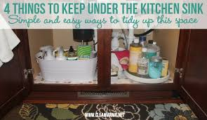 Cleaning Kitchen Sink by 4 Things To Keep Under The Kitchen Sink Clean Mama