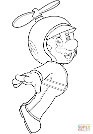 coloring pages of mario characters propeller mario coloring page free printable coloring pages