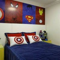 Small Boys Bedroom - furniture kids bedroom with spiderman theme having single bed and