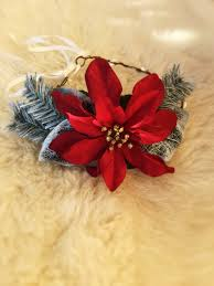 bohemian handmade large red poinsettia christmas flower crown halo