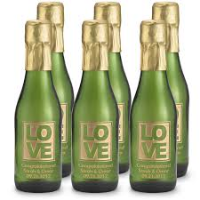 wine bottle favors etched sparkling wine bottle favors
