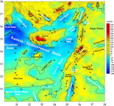 Map Of The Mediterranean Tectonic Geophysical Mapping Of Israel And The Eastern