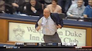 Syracuse Memes - gif syracuse coach jim boeheim is pissed notsportscenter
