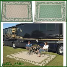 Ebay Outdoor Rugs Rv Outdoor Rug 9x12 Indoor Patio Deck Cer Green Mat Reversible