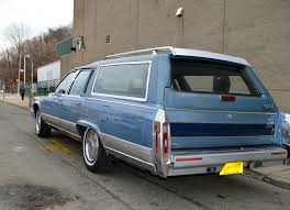 blue station wagon bangshift com 1990 cadillac fleetwood brougham station wagon