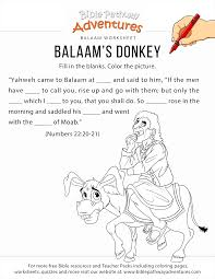 coloring pages worksheets balaam s donkey worksheet and coloring page free download