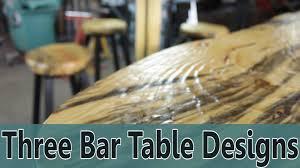 three bar table designs youtube