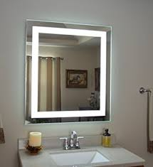 wall vanity mirror with lights amazon com wall mounted lighted vanity mirror led mam83632