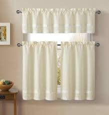 Rooster Lace Curtains by Jc Penney Kitchen Curtains Jcpenneycom Clover Embroidered