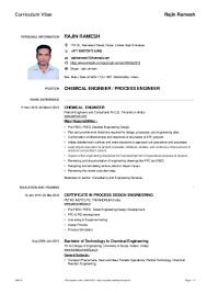 Chemical Engineering Internship Resume Samples by Chemical Engineer Resume India Virtren Com