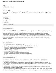 Cyber Security Analyst Resume Sap Security Resumes Sap Support Resume 100 Sap Security Resume