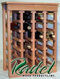 24 bottle wine rack oak or alder radel wood products