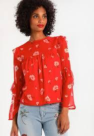 shell blouse look print ruffle shell blouse zalando co uk