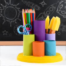 Yellow Desk Organizer Make Your Own Desk Organizer Diy Pencil Cups Easy Kids Crafts