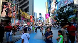 Walking Map Of New York City by Walk Down The Times Square In New York Youtube