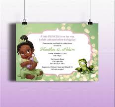 princess and the frog baby shower invitations zdornac info