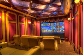 glamorous home movie theater rooms with pink yellow wall accent sweet home movie theater