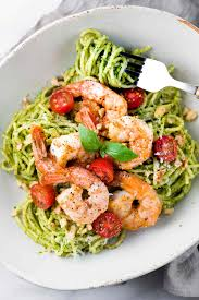 Five Cheese Marinara Sauce On Cavatappi Pasta With Chicken Meatballs - 30 minute pesto shrimp pasta recipe jessica gavin