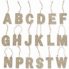 mudpie glitter initial letter ornament a b d e f g h j m n p r s t