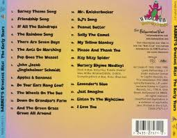 Credits To Barney And The by Barney U0027s Greatest Hits Barney Songs Reviews Credits Allmusic
