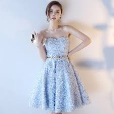 ball gown sweetheart floral lace short prom dress homecoming